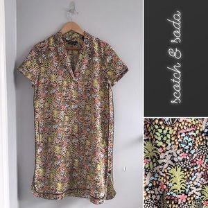 Scotch & Soda Tropical Shift Shirt Dress